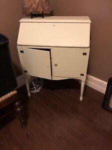 Drop front antique desk