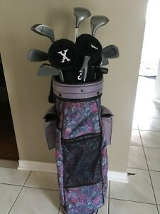 Ladies Left-Handed Golf Clubs and Bag