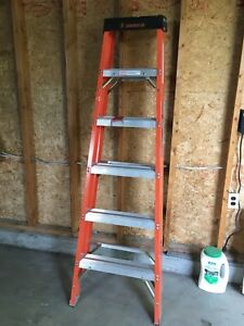 Featherlite 6' fibreglass stepladder