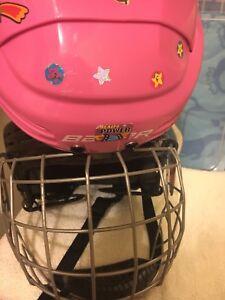 Girls ice skate helmet