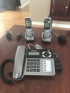 Téléphone/répondeur/avec 2 téléphones sans fil PANASONIC