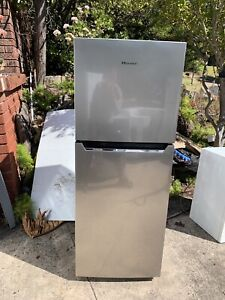Hisense 260L stainless steel fridge new like condition
