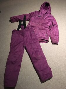 Purple girls size 16 snow suit
