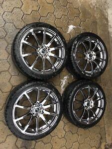 Mags 4x100 4x114.3 avec pneus 17'' neuf !
