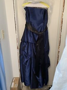 Long Navy Blue Prom Dress For Sale