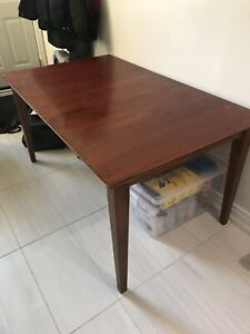 Sturdy Wood Kitchen Table W/ Insert