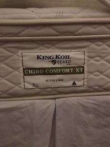 King size mattress ensemble King Koil CHIRO COMFORT smoke free Woollahra Eastern Suburbs Preview