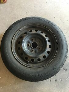Set of 4 15 inch winter tires on rims
