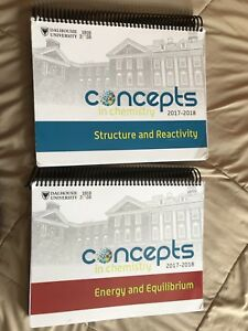 2017-2018 Dal textbooks Concepts in Chemistry Books