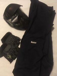 One piece Coveralls, face mask, gloves