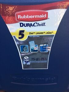 Rubbermaid DURA-Chill 75 qt Cooler HOLDS 130 CANS