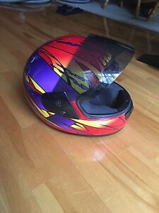 Casque moto rouge HJC vg snell dot approved