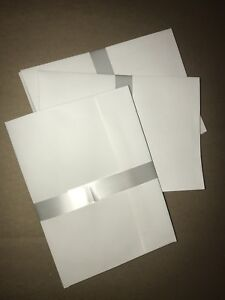"28 White Blank Envelopes (5x7"")"
