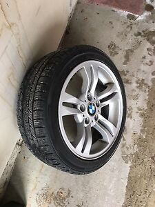 Bmw winter tires and rims  Cambridge Kitchener Area image 1