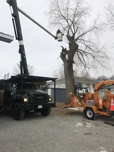 2002 GMC Topkick 7500 Altec LRV58 forestry bucket truck