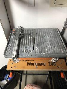 Mountain bike and tile saw