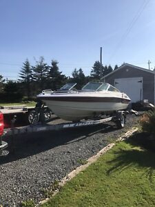 1995 bow rider boat and trailer great project
