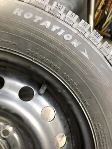 4 great lightly used snow tires