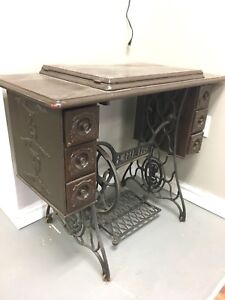Antique Singer Sewing table