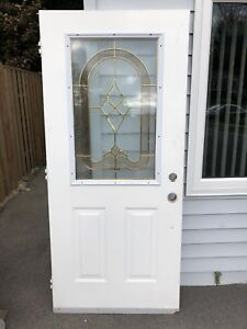 Front door with glass centre piece