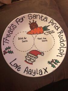 Personalised Santa Plates