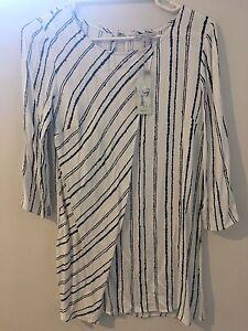 White, Black Striped Dress/Top - Size 8 Unworn Hamersley Stirling Area Preview