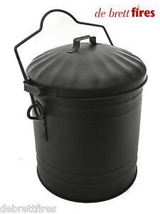 Ash Tidy Bucket Carrier Open Coal Fire Log Wood Stove Small Dusty Bin!!