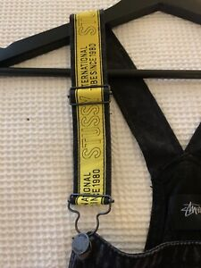 New Black STUSSY Limited Edition Yellow Strap Overalls North Sydney North Sydney Area Preview
