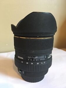 Sigma 17-35 wide angle lens for Canon