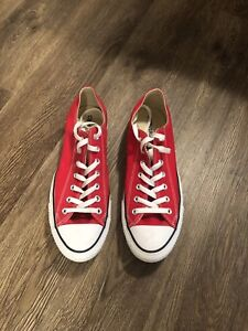 New Red Converse All Star size 11