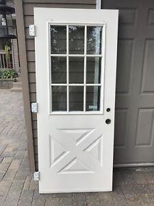 Steal Exterior Door with Window