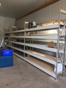 24' industrial steel shelving