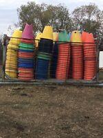 Pipeline skids and cones