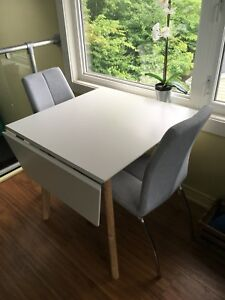 Small white dining table