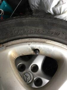 205/50/r16 OEM Mazda summer tires and 5 bolts rims