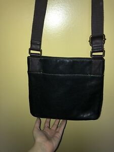 Black brown and sparkle fossil bag