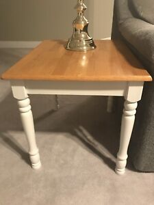 Matching Coffee Table and Side Tables (2)