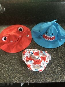 Zoocchini Sun/Swim Hats & Reusable Diaper