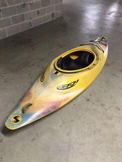 White water sit in kayak . BLISS STICK FJ1