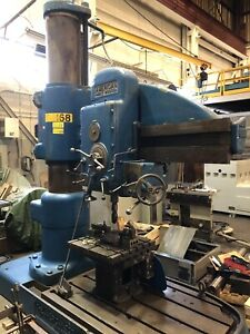 American hole wizard radial arm drill press