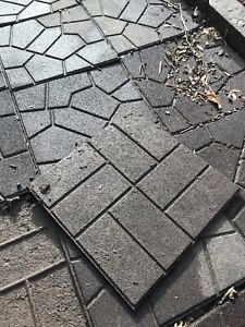 Patio tiles - recycled rubber