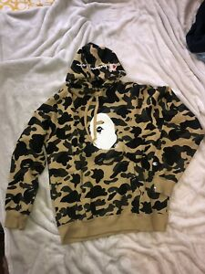 Bape Champion Pullover Yellow First Camo