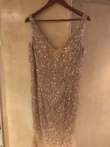 Gold Mermaid Sequin Bridesmaid Dress