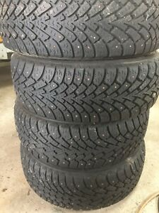 205/55/16 Goodyear Nordic tires & rims