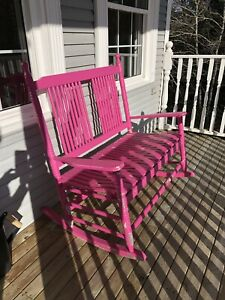 Double Wood Outdoor Rocking Chair