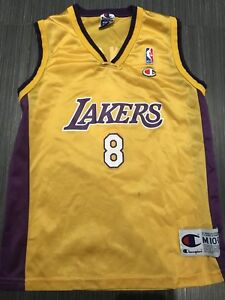 Vintage Champion Kobe Bryant LA Lakers Youth Basketball Jersey