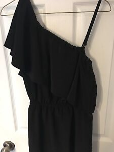WORN ONCE ! LADIES BLACK SUMMER DRESS SIZE SMALL