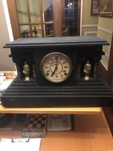 Vintage Desk clock Real Wood $200
