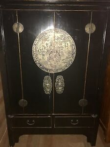18th Century Chinese Shanxi Solid Elm Clothes Cupboard or Armoire New Farm Brisbane North East Preview