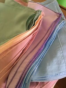 48 coloured cloth napkins